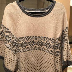 Women's poncho sweater